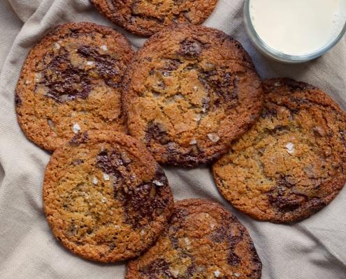 Vegan chocolate chip cookies / veganske cookies med chokolade