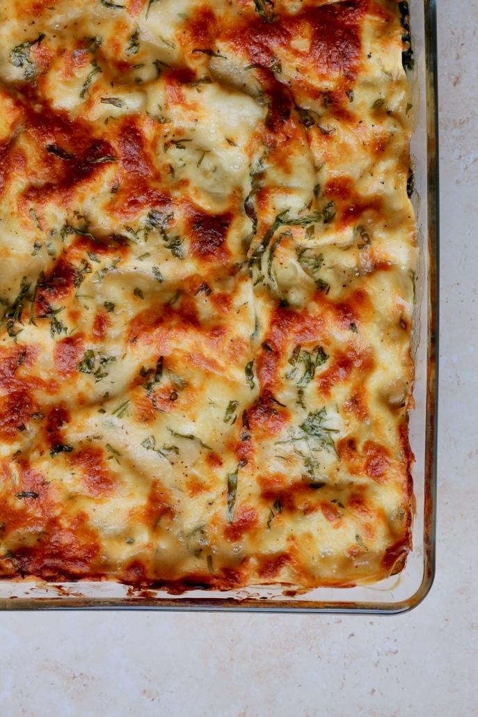 Svampelasagne - vegansk vegetarisk lasagne med svampe