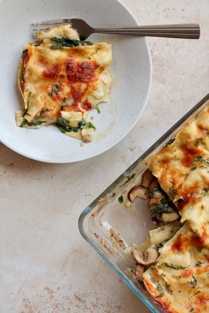 Mushroom lasagna / Svampelasagne - vegansk vegetarisk lasagne med svampe