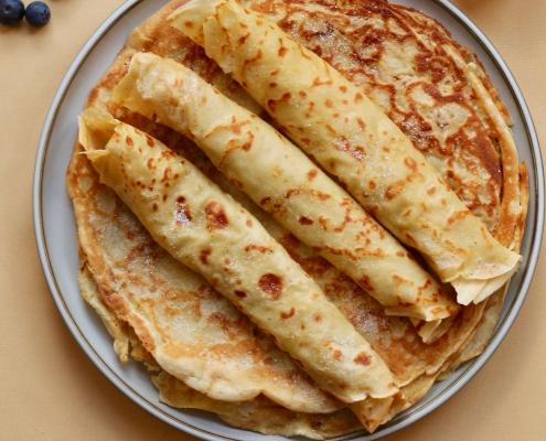 Pandekager uden æg og mælk