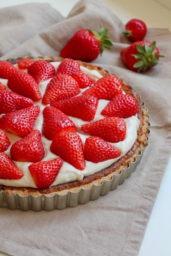 Vegan strawberry cream pie recipe