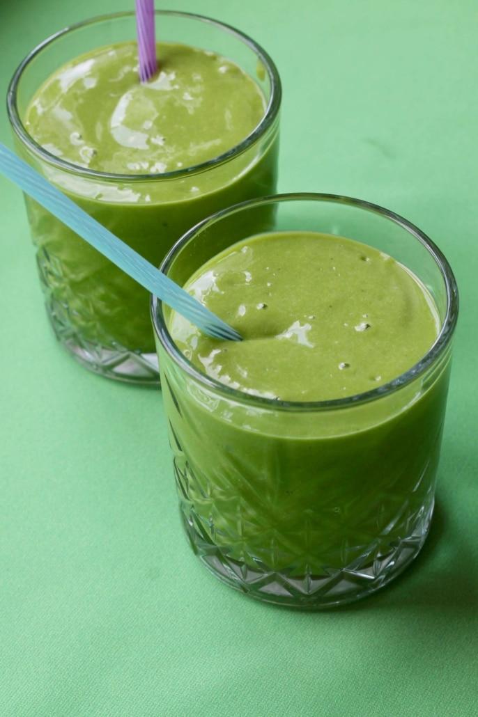 Grøn smoothie med spinat