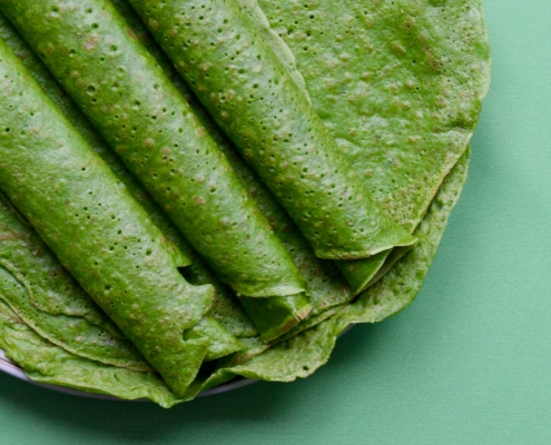 Spinatpandekager Spinach pancakes